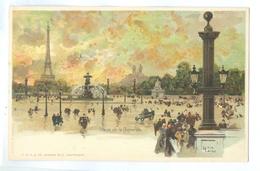 1900's? France, Paris, Place De La Concorde. Luigi Loir Printed Art Pc, Unused. - Loir