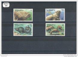 VANUATU 1988 - YT N° 797/800 NEUF SANS CHARNIERE ** (MNH) GOMME D'ORIGINE LUXE - Vanuatu (1980-...)