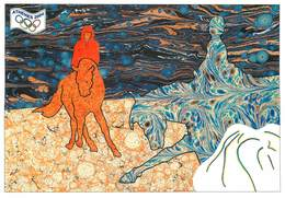 IIlustrateur M. Ayme - Enghien Les Bains - Jeux Olympiques - Athenes - Sports Equestres - Chevaux - Autographe - Signé - Illustrators & Photographers