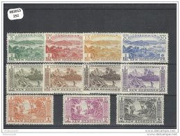 NVLLE-HEBRIDES 1957 - YT N° 186/196 NEUF AVEC CHARNIERE * (MLH) GOMME D'ORIGINE TTB - English Legend