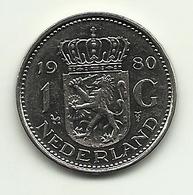 1980 - Olanda 1 Gulden, - [ 3] 1815-… : Regno Dei Paesi Bassi
