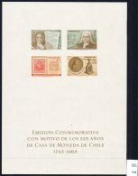 Chile 1973 Casa De Moneda Special Sheet :. Coin Press Stamp-on-stamp Etc. - Chile