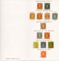 Chile 1978  Philatelic Soc Folded Sheet With Colon Columbus Stamp Printings Illustrated. - Chile