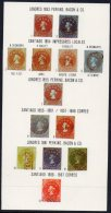 Chile 1978  Philatelic Soc Sheet With Colon Columbus Stamp Printings Illustrated. - Chile