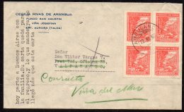 Chile Ambulancia TPO Cover Redirected From Valparaiso To Vina Del Mar. 4x10c Agriculture Cattle 10c - Chile