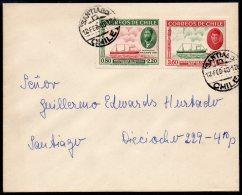 Chile 1940 Isla De Pascua Easter Island Occupation & Hospital Fund Set/2 Horizontal Se-tenant On Cover – See T - Chile