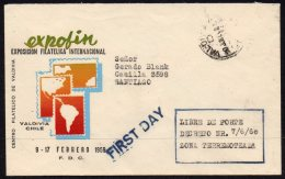 Chile Earthquake Cover : Stated To Be First Day Cover Of Free Postage In Earthquake Area. Valdivia Pmk - Chile