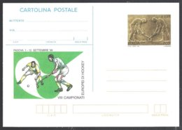Italie -intero Postale-entier Postal, VIII Campionati Europei Di Hockey  Padova 1999 ** - Hockey (sur Gazon)