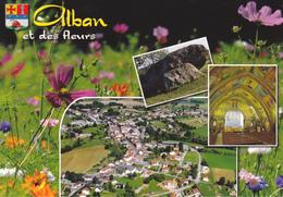 81 ALBAN ET DES FLEURS / MULTIVUES / BLASON - Alban