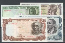 Serie Completa De Cuatro Billetes De Guinea Ecuatorial De La Emisión Del 3 De Agosto De 1979. (WPM: 14/17). EBC+/SC. - Banknotes