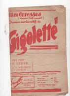 MES CARESSES VERSION CAFE CONCERT CHANSON SUR LES MOTIFS DE GIGOLETTE - 1922 - Partitions Musicales Anciennes