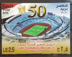 HX - Egypt 2010 MNH Block Souvenir Sheet - Cairo Stadium Golden Jubilee, Football - Ongebruikt
