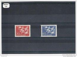DANEMARK 1956 - YT N° 372/373 NEUF SANS CHARNIERE ** (MNH) GOMME D'ORIGINE LUXE - Neufs