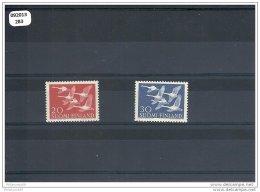 FINLANDE 1956 - YT N° 445/446 NEUF SANS CHARNIERE ** (MNH) GOMME D'ORIGINE LUXE - Neufs