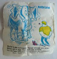 TRES RARE IMAGE TRANSFERT MALABAR 1968 Tatouage Dit à La Fleur N 09 - Le Moing - Confiserie & Biscuits