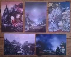 Lot De 16 Cartes Postales FAIRIES Fées Elfes Fantastique / Illustrateurs MYRRHA / DZYGA / SCHLESSER - Contes, Fables & Légendes