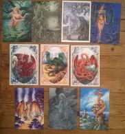 Lot De 10 Cartes Postales FAIRIES Fées Elfes Fantastique Dragons  / Illustrateur Sophie GUIBERT - Contes, Fables & Légendes
