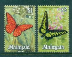 Malaysia 1970 Butterflies $1,$2 MUH Lot82530 - Malaysia (1964-...)
