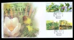 Malaysia 2002 Aquatic Plants FDC Lot51561 - Malaysia (1964-...)