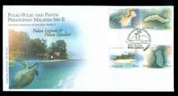 Malaysia 2003 Islands & Beaches FDC Lot51545 - Malaysia (1964-...)