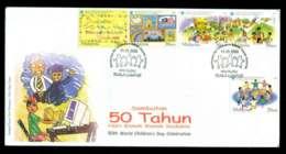 Malaysia 2003 World Children's Day FDC Lot51546 - Malaysia (1964-...)
