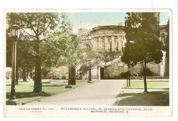 Vintage, Australia, Brisbane, National Anzac Memorial. Real Photo Pc, Unused. - Brisbane