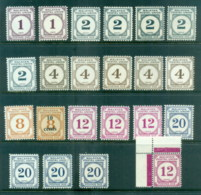 Malaysia Federation 1957-66 Postage Dues Asst MLH - Malaysia (1964-...)