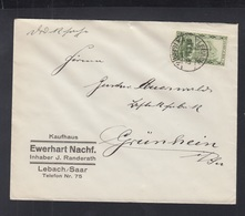 Dt. Reich Saargebiet Brief 1932 Lebach - Deutschland