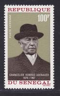 SENEGAL AERIENS N°   63 ** MNH Neuf Sans Charnière, TB (D7611) Adenauer - 1968 - Sénégal (1960-...)
