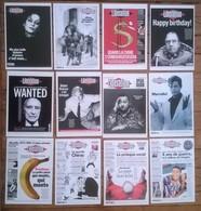 Lot De 13 Cartes Postales Couvertures Du Journal LIBERATION - Evénements