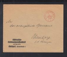 Dt. Reich Brief Stuttgart Franko 3 Pf - Deutschland