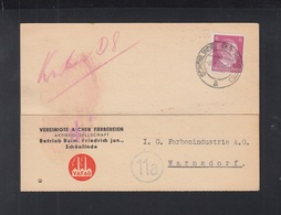 Dt. Reich Sudeten PK 1945 Schönlinde Rumburg An IG Farben Warnsdorf - Deutschland