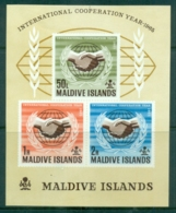 Maldive Is 1965 ICY Intl. Cooperation Year MS MLH - Maldives (1965-...)