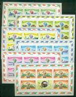 Maldive Is 1974 UPU Centenary Perf 13.5 6 X Sheetlets + Labels MUH Lot56299 - Maldives (1965-...)