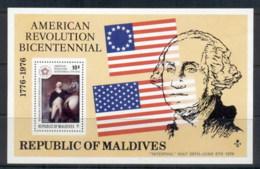 Maldive Is 1976 American Bicentennial MS MUH - Maldives (1965-...)