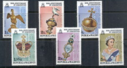 Maldive Is 1978 QEII Coronation 25th Anniversary MUH - Maldives (1965-...)