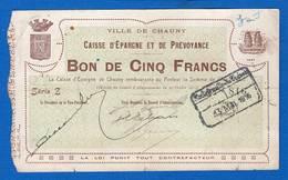 Chauny  5  Fr  1916   02 - Bonds & Basic Needs
