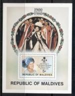 Maldive Is 1980 Queen Mother 80th Birthday MS MUH - Maldives (1965-...)