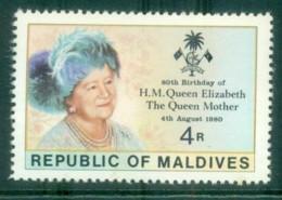 Maldive Is 1980 Queen Mother 80th Birthday MUH Lot79933 - Maldives (1965-...)
