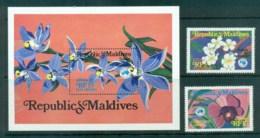 Maldive Is 1984 AUSIPEX , Orchids + MS MUH Lot83094 - Maldives (1965-...)