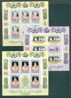 Maldive Is 1986 Queen Mother Birthdat 1,4.10r Sheetlets MUH Lot79929 - Maldives (1965-...)