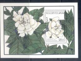 Maldive Is 1987 Flowers, Gardenia MS MUH - Maldives (1965-...)