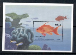 Maldive Is 1989 Butterfly Perch, Fish MS MUH - Maldives (1965-...)