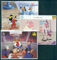 Maldive Is 1992 Disney, Goofy Cartoon Classics 3xMS Lot82492 - Maldives (1965-...)