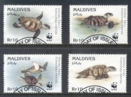 Maldive Is 1995 WWF Hawksbill Turtle FU - Maldives (1965-...)
