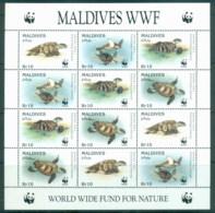 Maldive Is 1995 WWF Hawksville Turtle Sheetlet MUH - Maldives (1965-...)