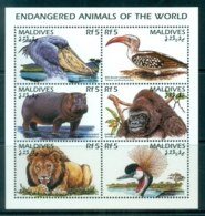 Maldive Is 1996 Endangered Animals MS MUH - Maldives (1965-...)