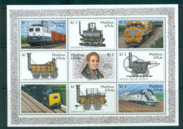 Maldive Is 1996 Railways MS MUH Lot66615 - Maldives (1965-...)
