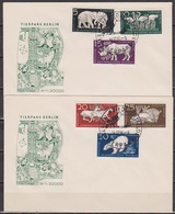 DDR FDC 1956 Nr.551 - 556 Tierpark Berlin (d 4109 ) Günstige Versandkosten - FDC: Briefe