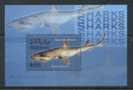 Maldive Is 2004 Marine Life, Fascinating World Of Sharks MS MUH - Maldives (1965-...)